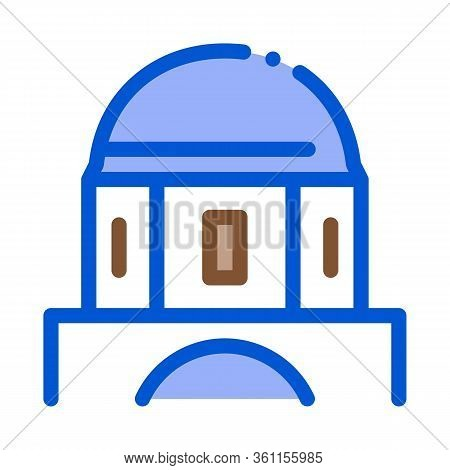 Classical Greek Building Dome Icon Vector. Classical Greek Building Dome Sign. Color Symbol Illustra