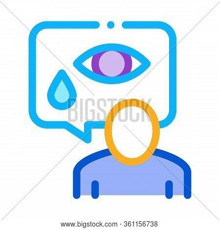 Human Tears Icon Vector. Human Tears Sign. Color Symbol Illustration