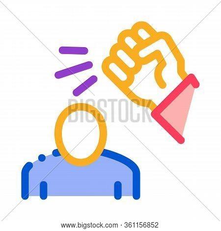 Beating Man Icon Vector. Beating Man Sign. Color Symbol Illustration