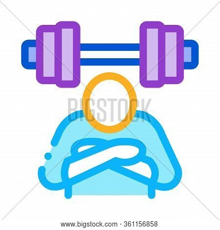 Inaction In Sports Icon Vector. Inaction In Sports Sign. Color Symbol Illustration
