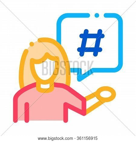 Female Discontent Icon Vector. Female Discontent Sign. Color Symbol Illustration