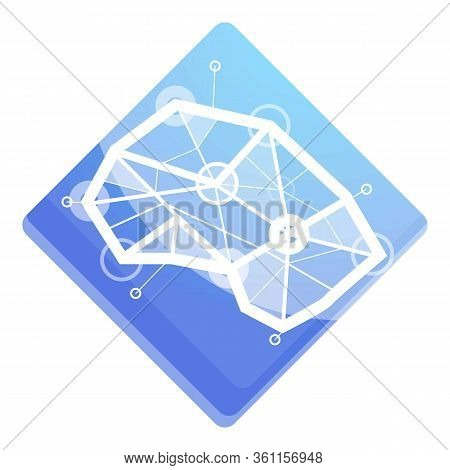Cyborg Neuromarketing Icon. Cartoon Of Cyborg Neuromarketing Vector Icon For Web Design Isolated On