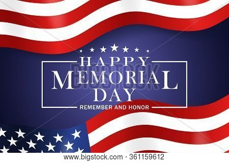 Memorial Day Background. Template For Memorial Day Festive Design. Memorial Day Greeting Card With S