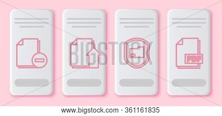 Set Line Document With Minus, Upload File Document, Document Folder Protection And Pdf File Document