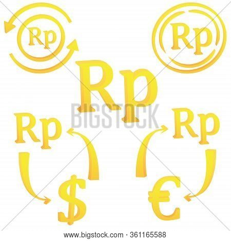 Indonesian Rupiah Currency Symbol Of Indonesia 3d Icon Vector Illustration On A White Background