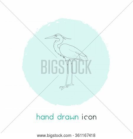 Heron Icon Line Element. Vector Illustration Of Heron Icon Line Isolated On Clean Background For You