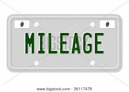 Mileage Car  License Plate
