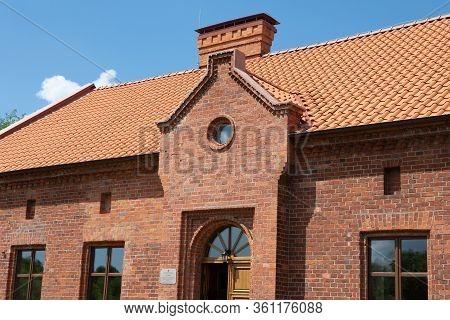Veselovka, Russia - June 19, 2019: German Philosophers Immanuel Kant Museum, House Of Pastor Anders.