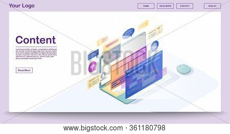 Content Webpage Vector Photo Free Trial Bigstock