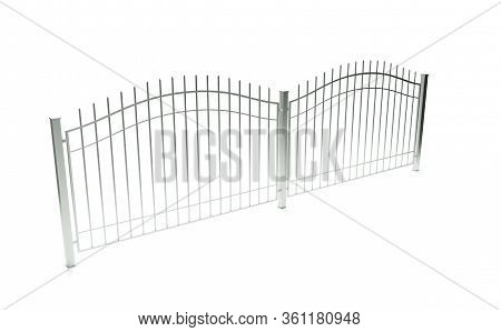 3d Render Of Metal Fence Texture, Enclose, Penal, Net, Steel, Security, Protection,