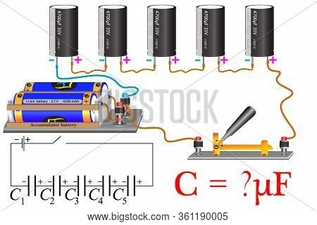The Physical Problem, The Electrical Circuit Of The Series Connection Of Capacitors, You Need To Cal