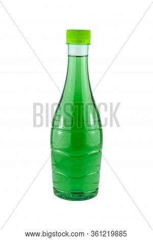 Water Bottles Chlorophyll Isolated On White Background