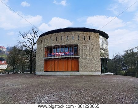 Schwaebisch Hall, Germany - January 02, 2020: Buidling Facade Of Theatre