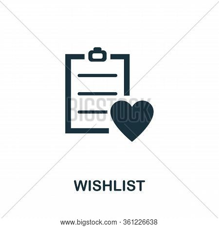 Wishlist Icon. Simple Illustration From E-commerce Collection. Creative Wishlist Icon For Web Design