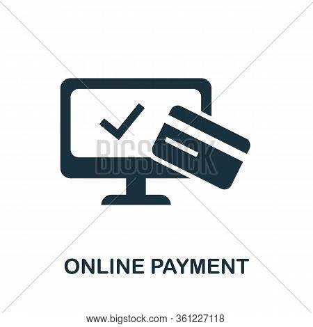 Online Payment Icon. Simple Illustration From E-commerce Collection. Creative Online Payment Icon Fo