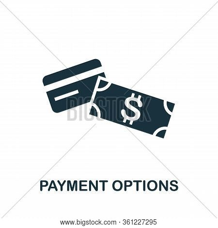 Payment Options Icon. Simple Illustration From E-commerce Collection. Creative Payment Options Icon