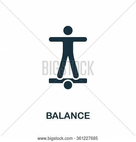 Balance Icon From Personal Productivity Collection. Simple Line Balance Icon For Templates, Web Desi