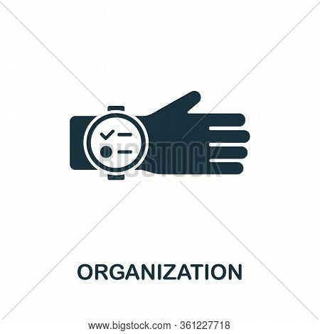 Organization Icon From Personal Productivity Collection. Simple Line Organization Icon For Templates