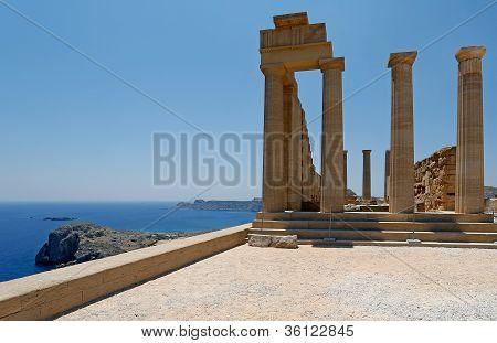 Acropolis Of Lindos, Rhodes, Greece
