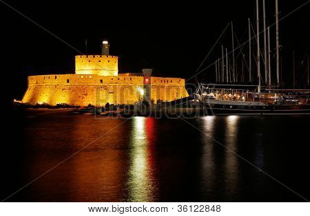 Fort Of Mandraki, Rhodes, Greece