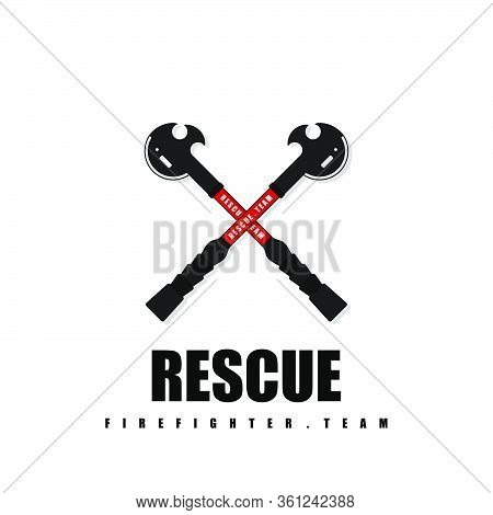 Rescue Or Firefighter Team Design. Handy Rescue Firefighter Tool. Rescue Tool Template Design.