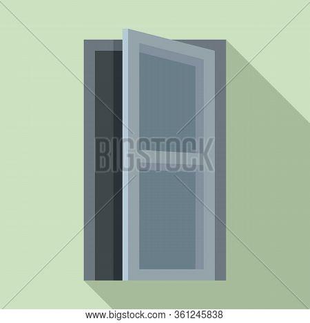 Building Entrance Icon. Flat Illustration Of Building Entrance Vector Icon For Web Design