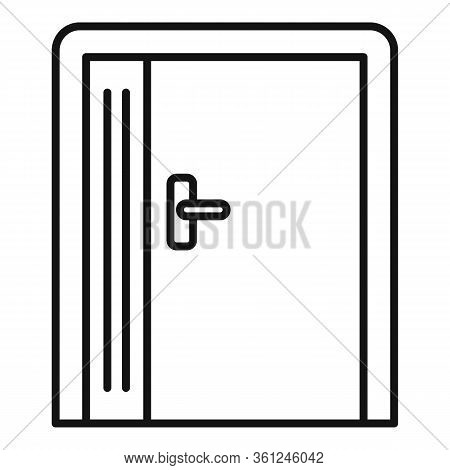 Emergency Exit Icon. Outline Emergency Exit Vector Icon For Web Design Isolated On White Background