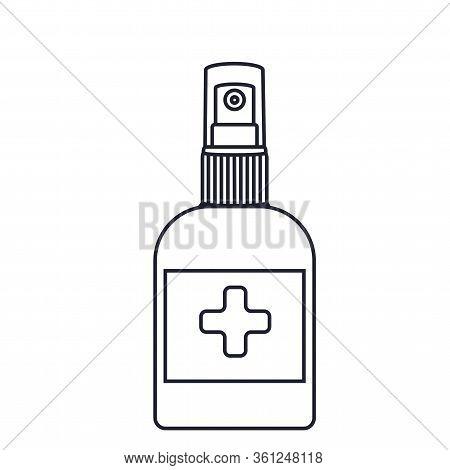 Anti-bacterial, Alcohol Bottle, Icon, Disinfection, Protect, Coronavirus, Vector, Sterilization, Spr