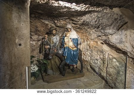 Bethlehem, Palestinian Authority, January 28, 2020: Fragment Of The Interior In The Milk Grotto Chur