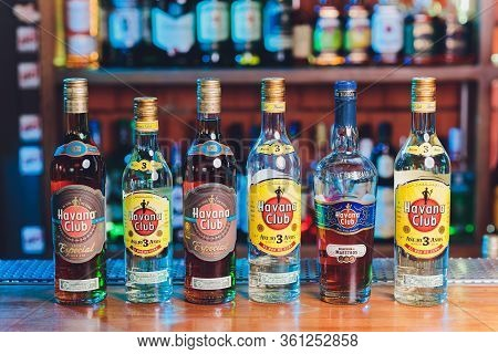 Ufa, Russia, 4 January, 2020: Havana Club Anejo 3 Anos, Cuban Rum. Brand Was Established In 1878 By