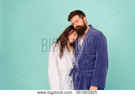 Drowsy And Weak In Morning. Advice Relationships Surviving Quarantine. Morning Routine. Couple Sleep