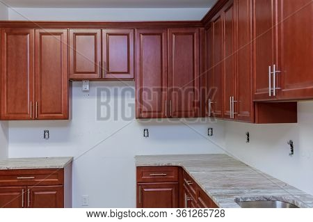 New Cabinet In A Home Improvement Kitchen View Installed In A