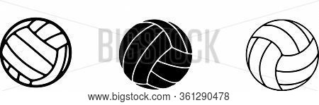 Volleyball Icon Isolated On Background Vector, Volley, Volley Ball