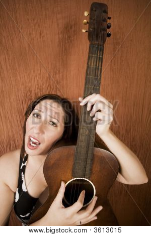 Funny Hispanic Folk Singer