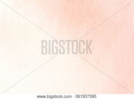 Delicate Watercolor Abstract Background Of Gradient Tender Pink Tones. Hand Drawn Illustration Of Be