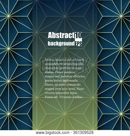 Graphic Illustration. Abstract Background With Geometric Pattern. Brochure Template. Eps10 Vector Il