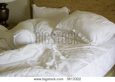 Messy Unmade Bed