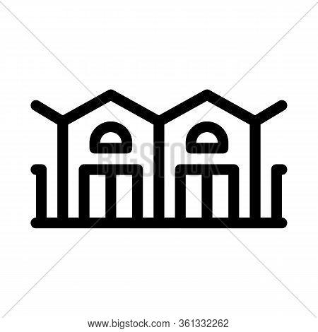 Garage Network Icon Vector. Garage Network Sign. Isolated Contour Symbol Illustration