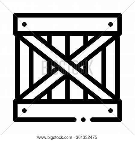 Wood Ban Icon Vector. Wood Ban Sign. Isolated Contour Symbol Illustration