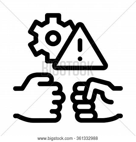 Technical Dispute Icon Vector. Technical Dispute Sign. Isolated Contour Symbol Illustration