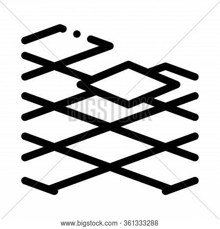 Laying Floor Tiles Icon Vector. Laying Floor Tiles Sign. Isolated Contour Symbol Illustration