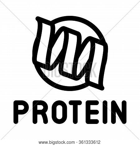 Need For Protein Icon Vector. Need For Protein Sign. Isolated Contour Symbol Illustration