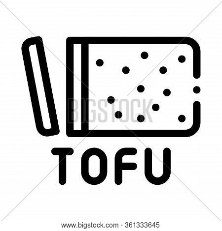 Tofu Cheese Icon Vector. Tofu Cheese Sign. Isolated Contour Symbol Illustration