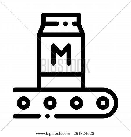Convector Milk Bottle Icon Vector. Convector Milk Bottle Sign. Isolated Contour Symbol Illustration