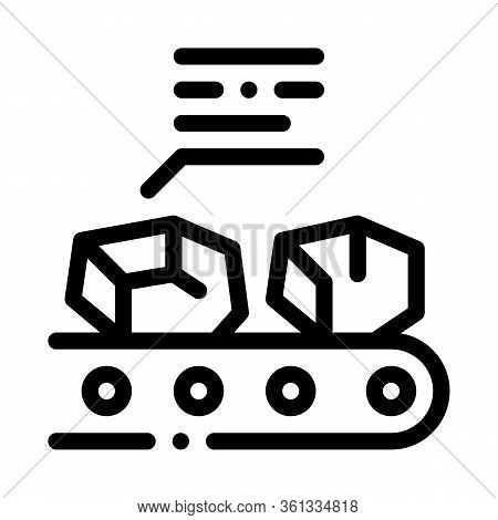 Coal In Stock Icon Vector. Coal In Stock Sign. Isolated Contour Symbol Illustration
