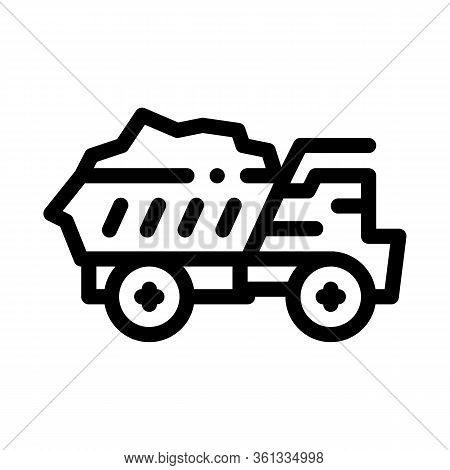 Motor Lorry Icon Vector. Motor Lorry Sign. Isolated Contour Symbol Illustration
