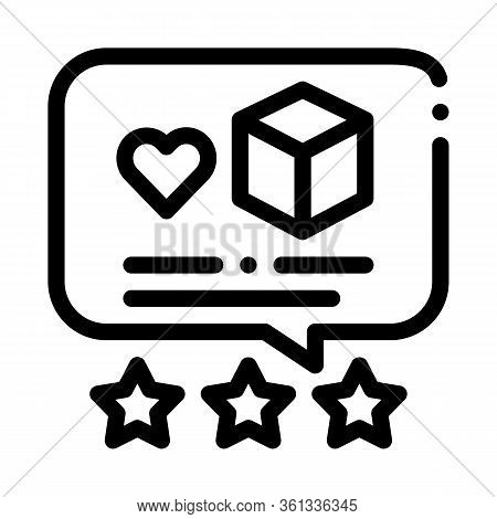 Package Delivery Estimate Icon Vector. Package Delivery Estimate Sign. Isolated Contour Symbol Illus