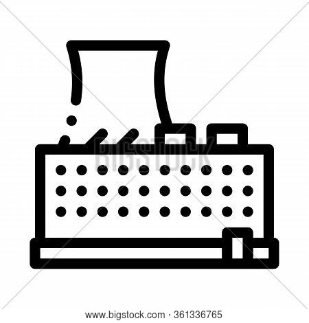 Single Tower Nuclear Power Plant Icon Vector. Single Tower Nuclear Power Plant Sign. Isolated Contou