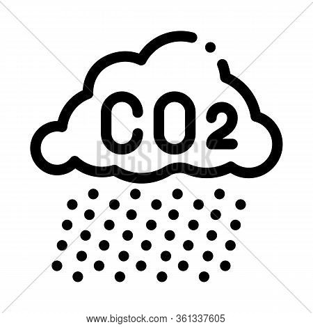 Acid Rain Icon Vector. Acid Rain Sign. Isolated Contour Symbol Illustration