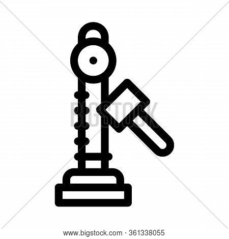 Power Attraction To Measure Strength Icon Vector. Power Attraction To Measure Strength Sign. Isolate